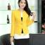 Pre-Order เสื้อสูททำงานแขนยาว เสื้อสูทผู้หญิง สูทลำลอง สีเหลือง แฟชั่นชุดทำงานสไตล์เกาหลีปี 2014 thumbnail 5