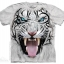 The Mountain Big Face Tribal White Tiger T-Shirt thumbnail 1