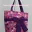 กระเป๋าสะพาย นารายา ผ้าคอตตอน สีชมพู ลายดอกไม้ ผูกโบว์ (กระเป๋านารายา กระเป๋าผ้า NaRaYa กระเป๋าแฟชั่น) thumbnail 3