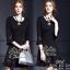 สินค้าพร้อมส่ง 한국에 의해 설계된 2Sister Made, Black Lovely Vintage Dress เดรสสั้นสีดำ เนื้อผ้าpolyesterเกรดดี ดีเทลแขนสี่ส่วน ปลายแขนและกระโปรงระบายบาน แต่งผ้าลูกไม้see throughสวยมากค่ะ งานมีซับในอย่างดีนะคะ งานป้าย2Sister สินค้านำเข้างานพรีเมียมนะคะ Cutting/Pa thumbnail 2