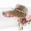 Pre-order หมวกแฟชั่น หมวกแก็ปปีกกว้าง หมวกฤดูร้อน กันแดด กันแสงยูวี สีกาแฟแต่งด้วยผ้าพิมพ์ลายดอกไม้ thumbnail 4