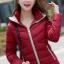 Pre-Order เสื้อโค้ทผู้หญิงแฟชั่น สีแดง มีฮู๊ด แขนจั๊ม แฟชั่นเกาหลี thumbnail 1
