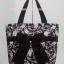 กระเป๋าสะพาย นารายา ผ้าคอตตอน สีน้ำตาล พิมพ์ลายดอกไม้ ผูกโบว์ (กระเป๋านารายา กระเป๋าผ้า NaRaYa กระเป๋าแฟชั่น) thumbnail 2