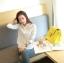 (Pre-Order) เสื้อแขนยาว เสื้อลูกไม้ โพลีเอสเตอร์ สีขาว แฟชั่นเกาหลีปี 2014 thumbnail 5