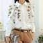 Pre-order เสื้อเชิ้ตแขนยาว เสื้อทำงานแขนยาว สีขาวพิมพ์ลายดอกไม้ แฟชั่นสไตล์เกาหลีปี 2015 thumbnail 2