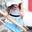 เสื้อผ้าเด็กสไตล์คุณหนู ชุดราตรีเด็ก ชุดออกงานเด็ก Phelfish สีฟ้า thumbnail 4
