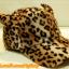 หมวกขนนุ่ม มีเขา ลายเสือดาว สีน้ำตาล น่ารักมากกกก thumbnail 2