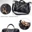 (Pre-order) กระเป๋าหนังแท้ กระเป๋าสะพายผู้หญิง หนังแท้ปั้มลายหนังงู แบบคลาสสิค สไตล์ยุโรป อเมริกา สีเบจ thumbnail 6