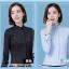 Pre-order เสื้อผ้าแฟชั่นเกาหลีปี 2017 เสื้อเชิ้ตทำงาน เสื้อผ้าทำงาน แขนยาว กระดุมหน้า ผ้าฝ้ายผสม มี 6 สี ดำ ขาว ชมพู ฟ้า แดง กรมท่า thumbnail 8