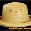 หมวกสาน หน้ายิ้ม สีน้ำตาลอ่อน ปีกรอบม้วน น่ารักมากกกกก !!! thumbnail 1