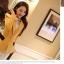 Pre order เสื้อสูทแฟชั่นเกาหลี ปกสูท แขนยาว แต่งด้วยผ้าต่างสีที่ปกและกระเป๋า สีเหลือง thumbnail 4