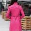 (Pre-order) เสื้อแจ็คเก็ตหนังแท้ เสื้อโค๊ตยาว หนังแกะ แฟชั่นเกาหลี สีกุหลาบ thumbnail 4