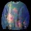 Pr-Order เสื้อยืดพิมพ์ลาย MR.GUGU & Miss GO : Green nebula sweater thumbnail 1