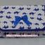 กระเป๋าเครื่องสำอางค์ นารายา ผ้าคอตตอน สีขาว ลายช้างแม่-ลูก สีน้ำเงิน มีกระจกในตัว Size L (กระเป๋านารายา กระเป๋าผ้า NaRaYa) thumbnail 2