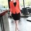 เสื้อสูทผู้หญิง สูทบาง ฝีมือตัดเย็บระดับ High -end นำเข้าจากประเทศเกาหลีแท้ แขนยาว สีส้มโอลด์โรส thumbnail 2