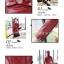 พร้อมส่ง เสื้อแจ็คเก็ตหนังผู้หญิง สีแดง แต่งซิปหน้าและกระเป๋า ปกสูท แขนยาว แฟชั่นเสื้อกันหนาวสไตล์เกาหลี thumbnail 2