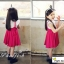 ชุดเดรสเด็กหญิง เดรสกระโปรงสีชมพู New Phelfish thumbnail 4