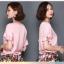 Pre-order เสื้อฤดูร้อนผ้าชีฟอง แขนใบบัว สไตล์ย้อนยุค แฟชั่นเกาหลีแท้ สีเหลือง thumbnail 3