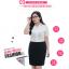 (Pre-order) เสื้อเชิ้ตทำงาน เสื้อเชิ้ตผู้หญิงแขนสั้น สีขาว ไซส์ใหญ่ thumbnail 6
