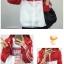 [พร้อมส่ง] เสื้อแจ๊คเก็ตกันแดดมีฮูด FOR THE สีแดง thumbnail 4