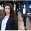 พรีออเดอร์ ชุดสูทผู้หญิง (เสื้อสูทแขนยาว+กางเกง) ผ้าผสม แฟชั่นเกาหลี thumbnail 5