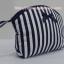 กระเป๋าเครื่องสำอางค์ นารายา ผ้าคอตตอน ลายทาง สีน้ำเงิน-ขาว เป็นชุด 3 ชิ้น Size L,M,S (กระเป๋านารายา กระเป๋าผ้า NaRaYa) thumbnail 4