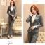 พรีออเดอร์ ชุดสูทกางเกงผู้หญิง สีเทา (เสื้อสูทแขนยาว+กางเกง) ผ้าผสม แฟชั่นเกาหลี thumbnail 2