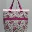 กระเป๋าสะพาย นารายา ผ้าคอตตอน พื้นสีขาว ลายดอกกุหลาบ สีชมพู ผูกโบว์ (กระเป๋านารายา กระเป๋าผ้า NaRaYa กระเป๋าแฟชั่น) thumbnail 5