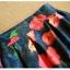 Pre-order กระโปรงพลีท จีบใหญ่ ผ้าขีฟองพิมพ์ดอกไม้ แฟชั่นเรโทรย้อนยุค กระโปรงยาว thumbnail 5