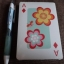 flower power playing card thumbnail 3