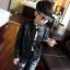 เสื้อแจ็คเก็ตเด็กสีดำ thumbnail 3
