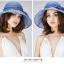Pre-order หมวกผ้าไหมแท้ติดโบว์ดอกไม้แฟชั่นฤดูร้อน กันแดด กันแสงยูวี สวยหวาน สีฟ้าอ่อน thumbnail 3