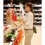 พร้อมส่ง เสื้อเชิ้ต แขนยาว สีขาว ผ้าชีฟอง เสื้อผ้าแฟชั่นเกาหลี 2013 thumbnail 3