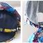 Pre-order หมวกแฟชั่น หมวกแก็ปปีกกว้าง หมวกฤดูร้อน กันแดด กันแสงยูวี สีบลูยีนส์แต่งด้วยผ้าพิมพ์ลายดอกไม้ thumbnail 7