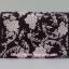 กระเป๋าเครื่องสำอางค์ นารายา ผ้าคอตตอน สีน้ำตาล พิมพ์ลายดอกไม้ มีกระจกในตัว Size L (กระเป๋านารายา กระเป๋าผ้า NaRaYa) thumbnail 4