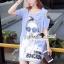 Seoul Secret Say's... Chill Open Shoulder Denim Dress Material : เดรสยีนส์เดนิมเก๋ๆ ชิคๆ ด้วยทรงเดรสเว้าไหล่ เก๋ๆ ด้วยงานพิมพ์ลายสาวแว่น เติมความเก๋ด้วยงานประดับด้วยวิ้งเลื่อมๆ ที่แว่นนะคะ ทรงเก๋น่าใส่ ใส่แมตซ์กับรองเท้าผ้าใบก็สวยเก๋แล้วคะ thumbnail 6