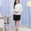 (Pre-order) เสื้อเชิ้ตทำงาน เสื้อเชิ้ตผู้หญิงแขนยาว สีขาว ไซส์ใหญ่ thumbnail 7