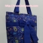 กระเป๋าสะพาย นารายา ผ้าคอตตอน สีน้ำเงิน ลายหยดน้ำ ผูกโบว์ (กระเป๋านารายา กระเป๋าผ้า NaRaYa กระเป๋าแฟชั่น) thumbnail 3