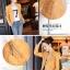 Pre-Order เสื้อแจ็คเก็ตหนังผู้หญิง สีเหลือง หนังด้าน แต่งซิปหน้าและกระเป๋า คอจีน แขนยาว แฟชั่นเสื้อกันหนาวสไตล์เกาหลี thumbnail 3