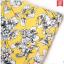 Pre-Order กระโปรงทรงเอไลน์ กระโปรงบาน ผ้าโพลีเอสเตอร์พิมพ์ลายดอกไม้ สีเหลือง thumbnail 4