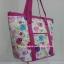 กระเป๋าสะพาย นารายา ผ้าคอตตอน พื้นสีขาว ลายดอกไม้ หลากสี มีช่อง ใส่โทรศัพท์ ด้านหน้า (กระเป๋านารายา กระเป๋าผ้า NaRaYa กระเป๋าแฟชั่น) thumbnail 1