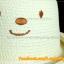หมวกสาน หน้ายิ้ม สีขาวปีกรอบม้วน น่ารักมากกกกก !!! thumbnail 2
