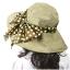 Pre-order หมวกแฟชั่น หมวกปีกกว้าง หมวกฤดูร้อน กันแดด ผ้าลินิน ผูกโบว์ลายจุด สีกาแฟ thumbnail 3