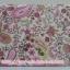 กระเป๋าเครื่องสำอางค์ นารายา ผ้าคอตตอน ลายหยดน้ำ สีชมพู มีกระจกในตัว Size L (กระเป๋านารายา กระเป๋าผ้า NaRaYa) thumbnail 4