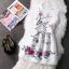 ชุดเดรสลายดอกไม้ ทรงพริ้นส์เซสสไตล์ยุโรป เอวจับจีบ มีซิปด้านหลัง thumbnail 2