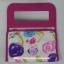กระเป๋าเครื่องสำอางค์ นารายา ผ้าคอตตอน พื้นสีขาว ลายดอกไม้หลากสี มีกระจกในตัว Size L (กระเป๋านารายา กระเป๋าผ้า NaRaYa) thumbnail 5