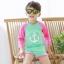 ชุดว่ายน้ำ เสื้อแขนยาว 3 ส่วน + กางเกง สีเขียวชมพู thumbnail 5