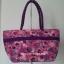 กระเป๋าสะพาย นารายา Size L ผ้าคอตตอน สีชมพู ลายดอกไม้ ผูกโบว์ สายหิ้ว หูเกลียว (กระเป๋านารายา กระเป๋าผ้า NaRaYa กระเป๋าแฟชั่น) thumbnail 5