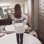 เสื้อคลุมแฟชั่นเกาหลี ผ้าหนานุ่ม ไม่มีกระดุม กันหนาวได้ มีกระเป๋า สีเทา thumbnail 5