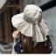 Pre-order หมวกแฟชั่น หมวกใบกว้าง หมวกฤดูร้อน กันแดด หมวกกันแสงยูวี ผ้าลินิน สีขนสัตว์พิมพ์ลายดอกไม้ thumbnail 3